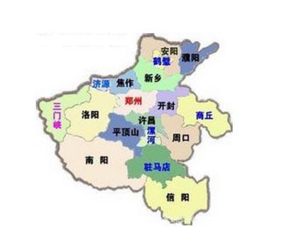 焦作市地理位置
