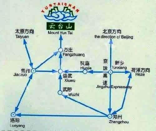 云台山自驾游路线