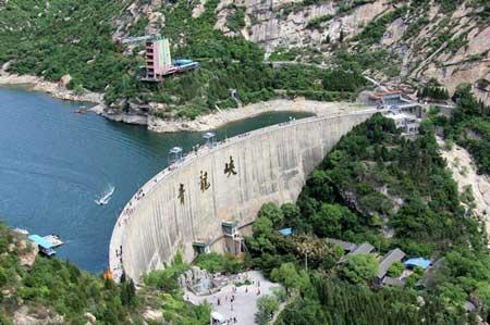 青龙峡景点大坝