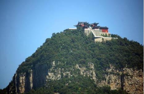 河南焦作云台山海拔1297.6米