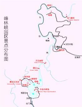 峰林峡旅游攻略景点分布路线图