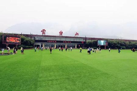 百家岩广场铺设了9000平方米的草坪