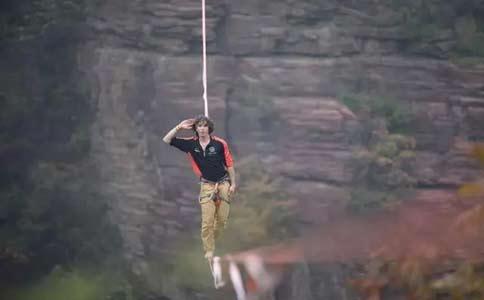 云台山最长高空走扁带吉尼斯世界纪录挑战