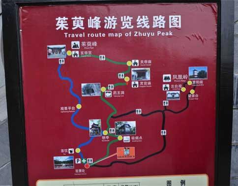 茱萸峰凤凰岭游览路线图