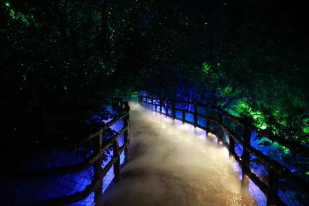 云台山云溪谷夜游