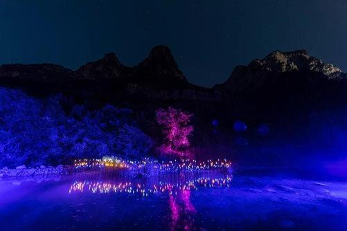 云溪谷夜游项目渔舟唱晚