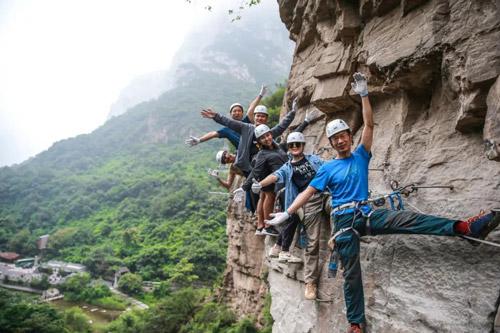 云台山攀岩游玩娱乐项目