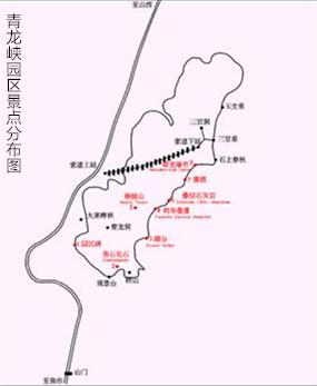 青龙峡旅游攻略景点分布路线图