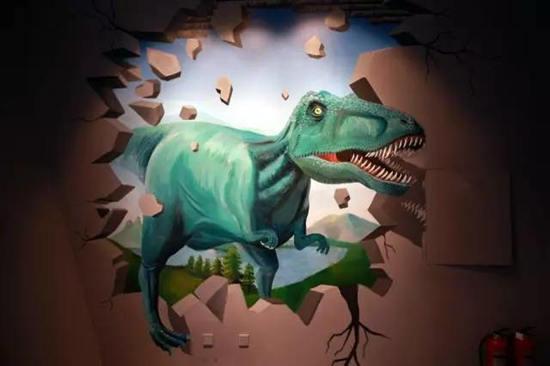 云台山世界地质博物馆逼真3D壁纸