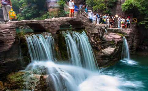 云台山瀑布有水了