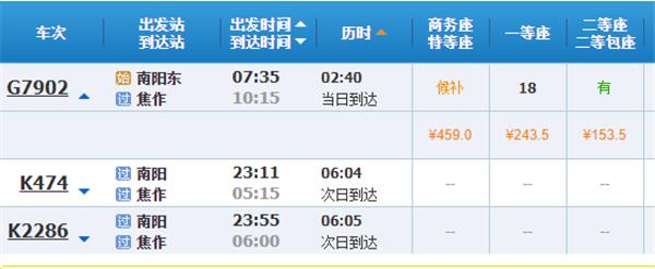 南阳到云台山高铁